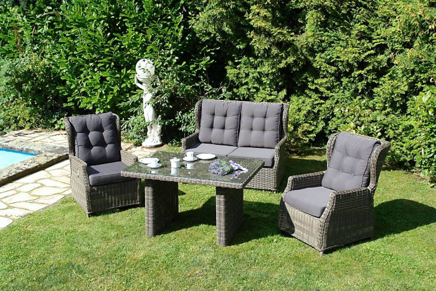 leona garten sessel verstellbar alu geflecht gartenm bel batavia gartenm bel onlineshop f r. Black Bedroom Furniture Sets. Home Design Ideas