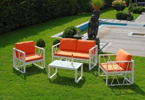 Santorin orange Aluminium Loungegruppe