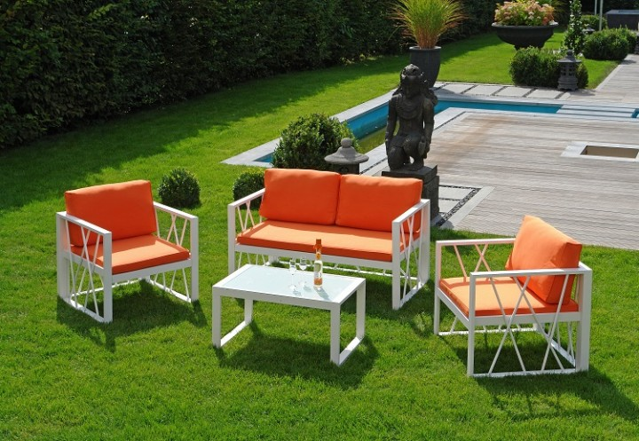 santorin orange aluminium loungegruppe aluminium gartenm bel batavia gartenm bel onlineshop. Black Bedroom Furniture Sets. Home Design Ideas
